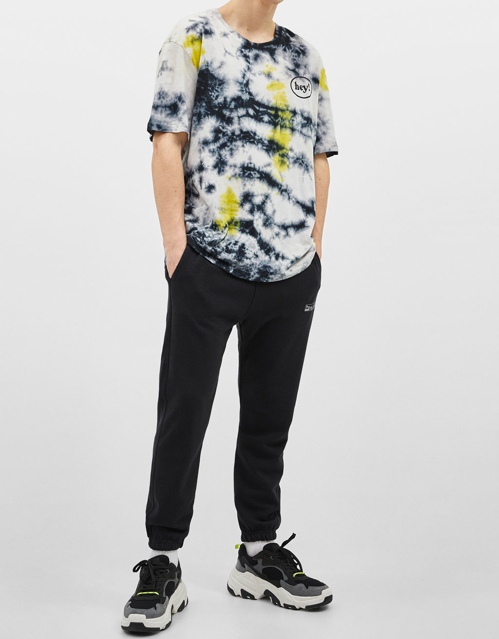Oversized T-shirt with tie-dye print